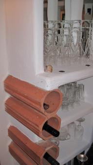 Gemauerte und verputzte Einbauschränke und Möbel